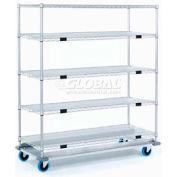 Nexel® Open Sided Wire Exchange Truck 5 Wire Shelves 1000 Lb. Cap