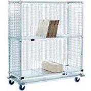 Nexel® Enclosed Wire Exchange Truck 2 Wire 1 Galvanized Shelf 1000 Lb Cap