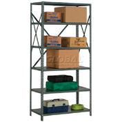 "Steel Shelving 18 Ga 36""Wx18""Dx73""H Open Clip Style 6 Shelf"