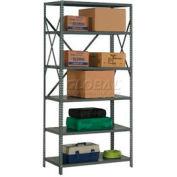 "Steel Shelving 18 Ga 48""Wx18""Dx73""H Open Clip Style 6 Shelf"
