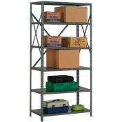 "Steel Shelving 18 Ga 48""Wx30""Dx73""H Open Clip Style 6 Shelf"