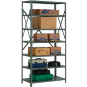 "Steel Shelving 18 Ga 36""Wx30""Dx73""H Open Clip Style 7 Shelf"