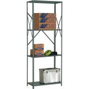 "Steel Shelving 18 Ga 36""Wx12""Dx97""H Open Clip Style 4 Shelf"