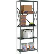 "Steel Shelving 18 Ga 36""Wx24""Dx97""H Open Clip Style 5 Shelf"