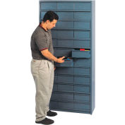 "12""D Metal Drawer Storage Cabinet with 48 Drawers"