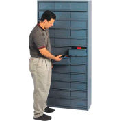 "18""D Metal Drawer Storage Cabinet with 72 Drawers"