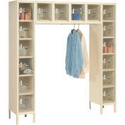 Hallowell USVP1788-16PT Safety-View Locker 16 Person 12x18x12 16 Doors Unassembled Parchment