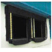 Chalfant Black Dock Door Seal Model 130 Heavy Duty 40 Ounce 8'W x 8'H with HD Wear Pleats