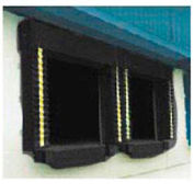 Chalfant Black Dock Door Seal Model 131 Heavy Duty 40 Ounce 8'W x 10'H with HD Wear Pleats