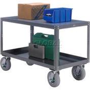 Portable Steel Table 2 Shelves 36x24 1200 Lb. Capacity Unassembled