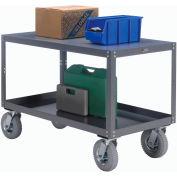 Portable Steel Table 2 Shelves 48x24 1200 Lb. Capacity Unassembled