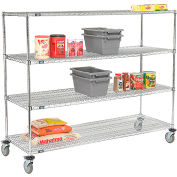 Nexel® E-Z Adjust Wire Shelf Truck 72x18x60 1200 Pound Capacity with Brakes