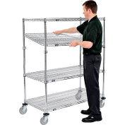 Nexel® E-Z Adjust Wire Shelf Truck 72x24x60 1200 Pound Capacity