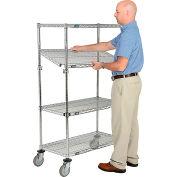Nexel® E-Z Adjust Wire Shelf Truck 36x18x69 1200 Pound Capacity