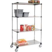 Nexel® Stainless Steel Shelf Truck 48x24x80 1200 Pound Capacity
