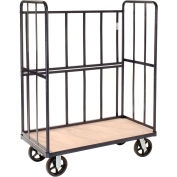 "48""L x 24""D x 61""H-3-Sided (2) Shelf Steel Truck-1,200 lb. Capacity"
