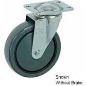"Faultless Swivel Plate Caster 499-3RB 3"" Polyurethane Wheel with Brake"