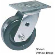 """Faultless Swivel Plate Caster 460S-4RB 4"""" Polyolefin Wheel with Brake"""