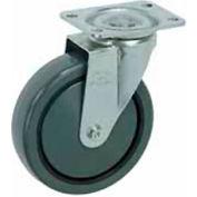 """Faultless Swivel Plate Caster 499-5 5"""" Polyurethane Wheel"""