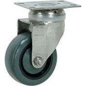 """Faultless Stainless Steel Swivel Plate Caster S896-5 5"""" Polyurethane Wheel"""