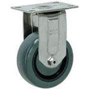 "Faultless Stainless Steel Rigid Plate Caster S8796-5 5"" Polyurethane Wheel"