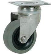 "Faultless Stainless Steel Swivel Plate Caster S890-5 5"" TPR Wheel"