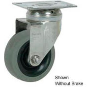 """Faultless Stainless Steel Swivel Plate Caster S890-5TB 5"""" TPR Wheel with Brake"""