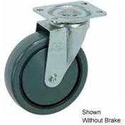 "Faultless Swivel Plate Caster 1498-4RB 4"" Polyurethane Wheel with Brake"