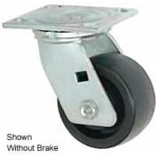 "Faultless Swivel Plate Caster 1431-5RB 5"" Phenolic Wheel with Brake"