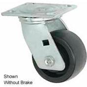 "Faultless Swivel Plate Caster 1431-5RB 5"" Phenolic Wheel with Brake"