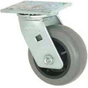 """Faultless Swivel Plate Caster 1491-5 5"""" TPR Wheel"""