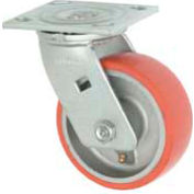 "Faultless Swivel Plate Caster 1438-5 5"" Mold-On Poly Wheel"