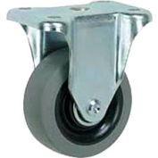 "Faultless Rigid Plate Caster 3491-6 6"" TPR Wheel"