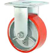 """Faultless Rigid Plate Caster 3438-6 6"""" Mold-On Poly Wheel"""