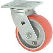 """Faultless Swivel Plate Caster 1438-8 8"""" Mold-On Poly Wheel"""