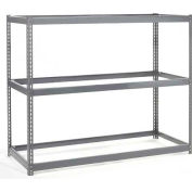 Global Industrial™ Wide Span Rack 48Wx24Dx60H, 3 Shelves No Deck 1200 Lb Cap. Per Level, Gray