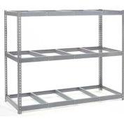 Global Industrial™ Wide Span Rack 96Wx48Dx60H, 3 Shelves No Deck 1100 Lb Cap. Per Level, Gray