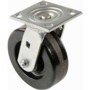 "Heavy Duty Swivel Plate Caster 6"" Plastic Wheel 800 Lb. Capacity"
