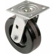 "Heavy Duty Swivel Plate Caster 8"" Plastic Wheel 800 Lb. Capacity"