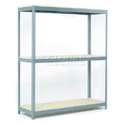 """Wide Span Rack 60""""W x 24""""D x 96""""H With 3 Shelves Wood Deck 1200 Lb Capacity Per Level"""