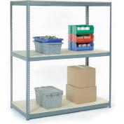 Global Industrial™ Wide Span Rack 60Wx48Dx96H, 3 Shelves Wood Deck 1200 Lb Cap. Per Level, Gray
