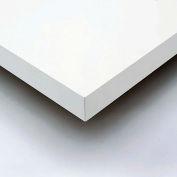 "96"" W x 30"" D x 1-5/8"" Thick, Plastic Laminate Square Edge Workbench Top, Light Gray"