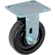 "Heavy Duty Rigid Plate Caster 5"" Plastic Wheel 500 Lb. Capacity"