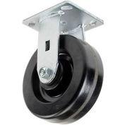 "Heavy Duty Rigid Plate Caster 6"" Plastic Wheel 800 Lb. Capacity"