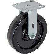 "Heavy Duty Rigid Plate Caster 8"" Plastic Wheel 800 Lb. Capacity"