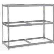 Global Industrial™ Wide Span Rack 72Wx36Dx60H, 3 Shelves No Deck 900 Lb Cap. Per Level, Gray
