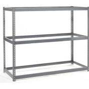 Global Industrial™ Wide Span Rack 48Wx24Dx84H, 3 Shelves No Deck 1200 Lb Cap. Per Level, Gray