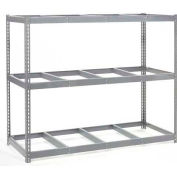 Global Industrial™ Wide Span Rack 96Wx48Dx84H, 3 Shelves No Deck 1100 Lb Cap. Per Level, Gray