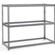 Global Industrial™ Wide Span Rack 48Wx48Dx96H, 3 Shelves No Deck 1200 Lb Cap. Per Level, Gray