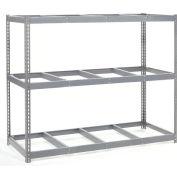 "Wide Span Rack 96""W x 36""D x 96""H With 3 Shelves No Deck 1100 Lb Capacity Per Level"